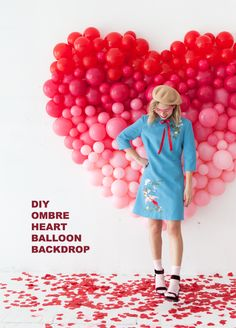 Ombre Heart Balloon Backdrop | Oh Happy Day!