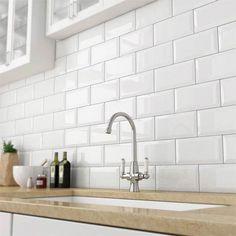 Victoria Metro Wall Tiles   Gloss White   20 X 10cm