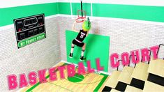 How to Make a Doll Basketball Court - video tutorial