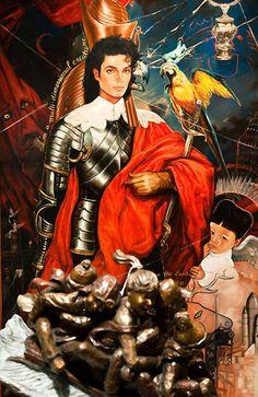 multidimensional creature - Michael Jackson kitch art