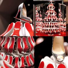 Dear Santa,   I would like a red-soled Christmas tree like the one in Louboutin's holiday window.