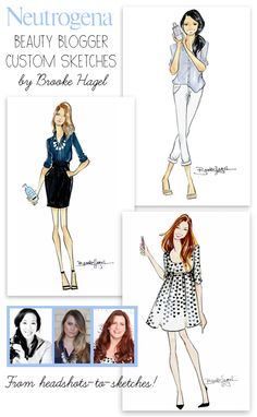 Custom-Illustrations-Beauty-Blogger-Sketches-Brooke-Hagel-Fashion-Illustrator