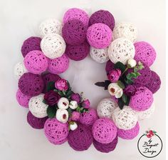 #yarnball #wreath #wreaths #yarnballs #doorornament #kapısüsü