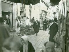 Nablus - نابلس : NABLUS - Late 19th, early 20th c. 70 - A market street in Nablus