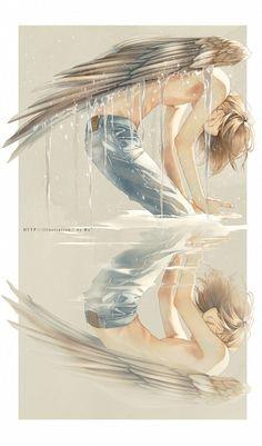 Re° - Zerochan Anime Image Board Illustrations, Illustration Art, Manga Art, Anime Art, Arte Yin Yang, Ange Demon, Boy Art, Pretty Art, Beautiful Artwork