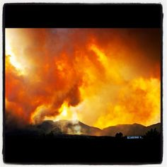 the inspiration for this board: the Waldo Canyon Fire of 2012, Colorado Springs, CO; Photo from the Instacanvas gallery for guitarist4x.
