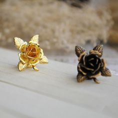 Retro Vintage Style Floral Rose Handmade Antique by ZJJewelry, $15.99