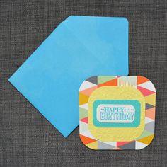Yellow Birthday Card Handmade Card Hand by CraftyCarolynsCards