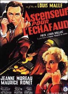 Ascenseur pour l'echafaud1957  di Louis Malle con Jeanne Moreau e Maurice Rone.