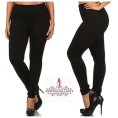 Plus Size Solid Black Fleece lined Leggings Perfect for cold weather!! Plus Size Solid Black Fleece lined Leggings Available in Plus One Size - will fit an array of sizes up to a 3X These have 30% spandex so they have amazing stretch to them❤️ 70% polyester, 30% spandex   Price firm unless bundled Create a bundle for 15% off! Thanks for looking✌️❌NO PAYPAL❌NO TRADES❌ Hourglass Lady Pants Leggings