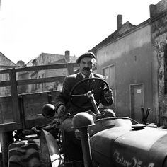 A farmer in post-war northern Poland, another lucky owner of a new Czechoslovak-made Zetor 25 tractor. Socialist State, Socialism, Warsaw Pact, Central And Eastern Europe, Soviet Union, Cold War, Tractor, Poland, Farmer