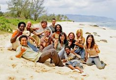 Season 1. Look at them all happy and not dead! No Boone, and no Claire, but it's still a great shot. I like that Vincent even showed up for this one!