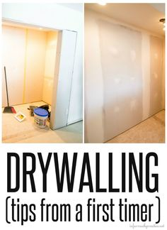 "I don't even know if it is called drywalling.  Maybe it is called ""doing drywall"".  See I am a newbie.  But I wanted to learn, even if I never use the skill again, how to hang, mud and sand drywall…"