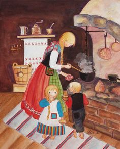 Finland ~ Mirja Clement ~ Cooking Dinner