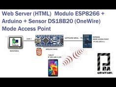 Test Web Server ESP8266 + Arduino + DS18B20 (OneWire) - 2