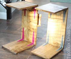 Sofa Laptop Desk with Magazine Rack - ToolBox Divas