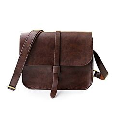 Vintage Style Solid Color and PU Leather Design Women's Crossbody Bag