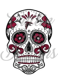 Atlanta Falcons Sugar Skull Day of the Dead SVG Cutting File Cricut or Cameo (Designer Edition required) Easy Cut Easy Layer Football by CuttinUpGifts on Etsy