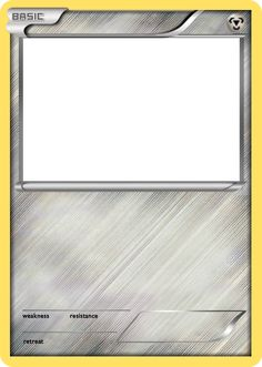 BW Metal basic Pokemon card blank by The-Ketchi on DeviantArt Diy Pokemon Cards, Pokemon Card Template, Trading Card Template, Meme Template, Pikachu, Make Your Own Pokemon, Pokemon Birthday Card, Pokemon Room, Pokemon Trading Card