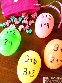 Easter Egg Math Activities for Kindergarten {Freebies Included! Third Grade Math Games, 1st Grade Activities, Kindergarten Freebies, Kindergarten Math Activities, First Grade Math, Kindergarten Classroom, Preschool Prep, First Grade Freebies, Tally Marks