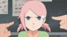 The Daughter of NaruSaku Couple♥♥♥ Naruto And Sasuke, Naruto Anime, Naruto Cute, Naruto Shippuden Sasuke, Naruto Girls, Anime Oc, Sakura And Sasuke, Itachi, Naruko Uzumaki