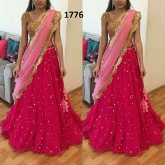 Long Gown Dress, Lehnga Dress, Bridal Lehenga Choli, Choli Designs, Lehenga Designs, Indian Dresses, Indian Outfits, Lehenga Online, Applique Dress