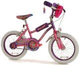 findathing247 Purrfect Girls Bike Purrfect Girls Bike oversized S shaped frame, 16 wheels with colour coded rims, furry safety pad set and hand bag, hockey stick chainguard, front muguard, patterned sad (Barcode EAN = 9313131519848). http://www.comparestoreprices.co.uk/kids-bikes-