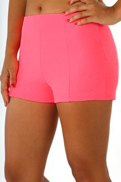 Small Town Love Shorts: Neon Pink
