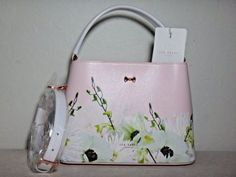 NWT-Ted-Baker-London-Pearly-Petal-Bow-SML-Leather-Tote-Nude-Pink