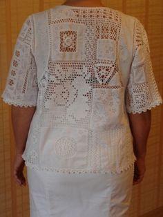 Креативный вязаный пэчворк / Вязание крючком / Женская одежда крючком. Схемы.