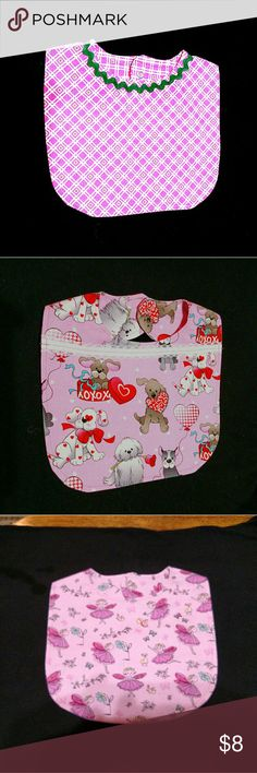 Homemade Infant Baby Bibs Infant Baby Bibs Homemade 100% cotton.  The baby bib prices are $8.00 each or (2) $14.00.  I will take special offers if you do not see what your looking for. Accessories Bibs