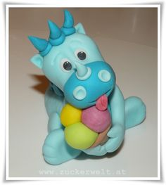 ZUCKERWELT: Dino - For fondant, not in English --- Would also work for polymer clay.