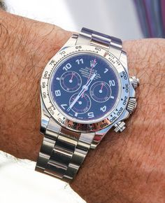 Rolex Daytona White Gold Blue Dial