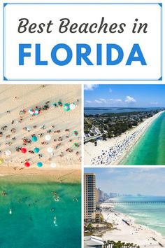 Florida Beaches Travel Guide: Discover the best beaches in Florida with our Florida Beaches destination guide. From Clearwater to Daytona, and Key West to South Beach we've got some of the best Places to go in Florida covered. Take a day trip from Orlando Best Beach In Florida, Visit Florida, Destin Beach, Florida Travel, Florida Beaches, Beach Trip, Beach Vacations, Beach Travel, Usa Travel Guide