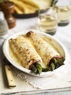 Debbie Major's savoury pancake recipe is topped off with a rich bechamel sauce.