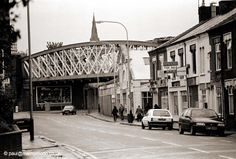 Bowstring bridge, Braunstone Gate, 1996 - demolished in 2009. Image by Paul Smith