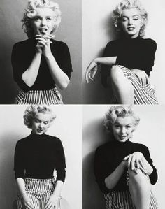 Marilyn Monroe: so charming in stripes! | Famous