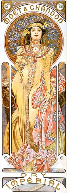 Champagne  Artist Alphonse Mucha