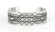Beautiful hand stamping by Navajo silversmith Bruce Morgan