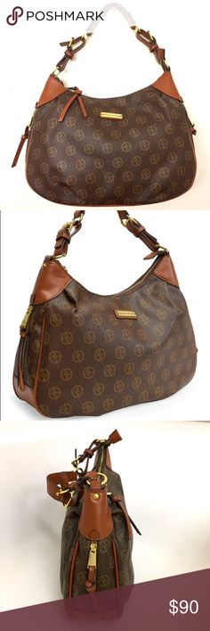 SALE!🎉Adrienne Vittadini Large Chocolate Hobo Brand new with tags! Sling this laid-back hobo bag by Adrienne Vittadini over your shoulder for a casually chic accent to your look. Crafted from beautiful faux leather. The bag comes fully lined and the spacious interior boasts one zip and one flap pocket to help keep you organized while you're out and about. Measurements: 16'' W x 10.5'' H x 4.5'' D 9'' handle drop. Color: Chocolate brown. want discounted shipping? Just ask!😊 Adrienne…