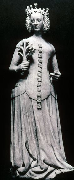 "Sideless gown/surcote, helvetesfönster/klänning, (kärt barn har många namn). ""Jeanne de Bourbon"" 1390 14th century"
