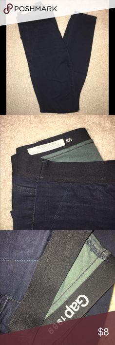 GAP Pull on Jeggings Dark wash GAP jean jeggings GAP Jeans Skinny