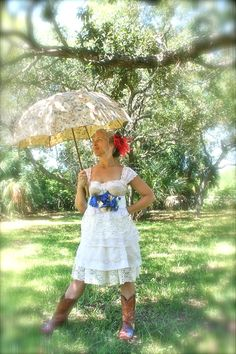 Wedding Dress- Southern Sweetie Dress Knee length- Custom to your size and color