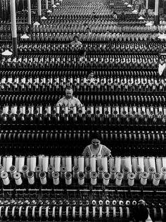 Margaret Bourke -White Workers at American Woolen Co. 1935 by dovima_is_devine_II, via Flickr