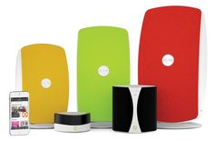 """""""Pure Jongo Portable Multi-Room Wireless Audio System lets you stream music from your smartphone or tablet anywhere in your house. Aside from visually-stunning and colourful speaker grilles, Pure Jongo has detailed, bass-rich, and premium quality sound that will absolutely satisfy your hearing.  You can simply connect its wireless speakers to your home Wi-Fi network or even Bluetooth."""" - portablespeakersreviews.com 