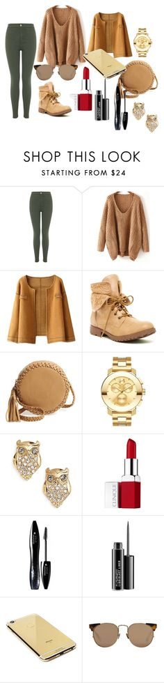 """Fall outfit"" by sandrapopescu on Polyvore featuring Miss Selfridge, Rock & Candy, Big Buddha, Movado, Kate Spade, Clinique, Lancôme, MAC Cosmetics, Goldgenie and Linda Farrow"