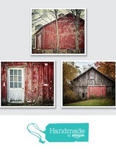 Red Barn Print Set of 3 - Rustic Red Farmhouse Decor - 15% Discount - Set of 3 Country Photographs from Lisa Russo Fine Art Photography https://www.amazon.com/dp/B01CRVPJL4/ref=hnd_sw_r_pi_dp_TAPIxbMMQNQ67 #handmadeatamazon