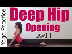 20 Minute Deep Hip Opening Yoga | Level 1 - YouTube