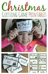 Christmas Guessing Game Printables Earlier this month in my Counting Down to Christmas post I shared that my family was marking each day of before Christmas with a fun activity. We read stories, Xmas Games, Christmas Games For Family, Holiday Games, Holiday Parties, Fun Games, Youth Games, Holiday Fun, Youth Activities, Group Games