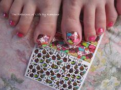 Nail art #foot #pop #stickers #cupcake #bornpretty  #nailart #summer